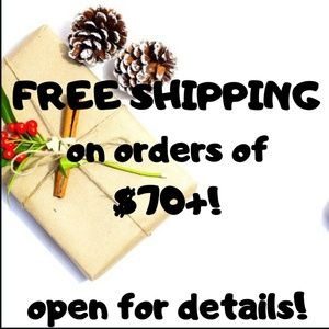 FREE SHIPPING ON ORDERS $70+ *